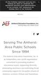 Mobile Preview of amhersteducationfoundation.org