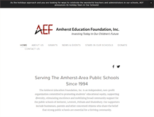 Tablet Preview of amhersteducationfoundation.org